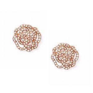 New Kate Spade Crystal Rose Pavè Earrings